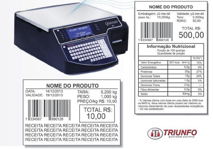 Balança com impressora de etiquetas